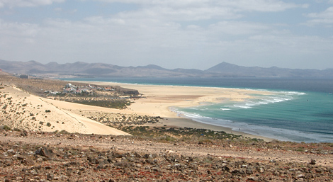 Costa Calma on Fuerteventura - Topography including position plan and island map