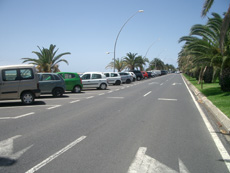 Parking spaces at Jandia beach