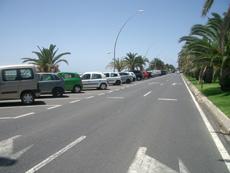 Parkplätze am Strand von Jandia