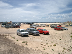 Parkplätze am Strand von El Cotillo