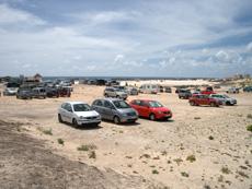 Car park at El Cotillo beach