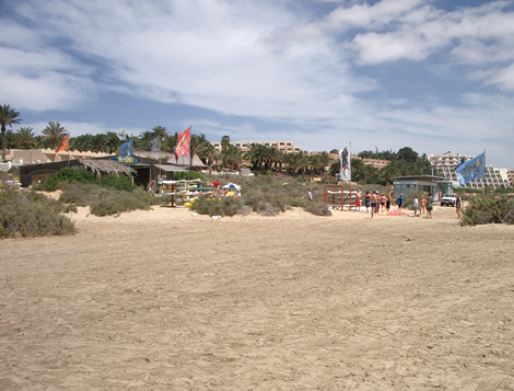 Surfing school on Costa Calma beach
