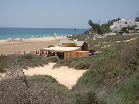 Strandlokal am Strand von Costa Calma