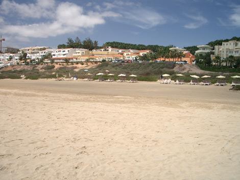 Hinter dem Strand von Costa Calma