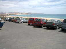 Car park at Costa Calma beach