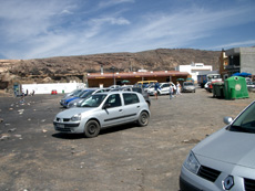 Car park on Ajuy beach