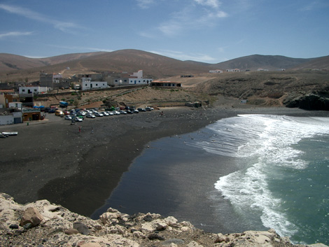 View of the beach and Ajuy