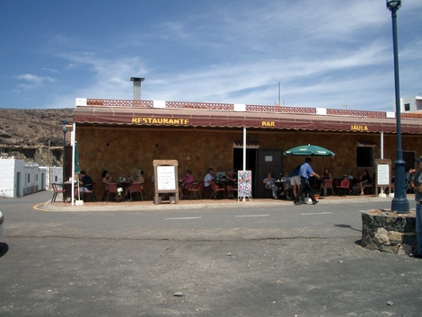 Restaurant on the beach of Ajuy