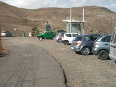 Car park at Mal Nombre beach