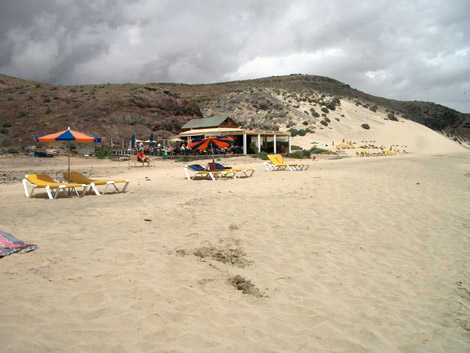 Beach bar on Mal Nombre beach