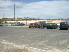 Car park near the bay of Caleta de Fuste