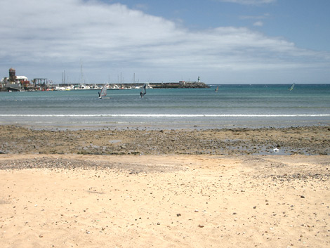 View of Caleta de Fuste's port