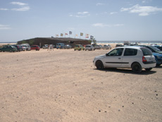 Car park at Sotavento beach