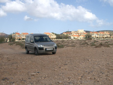 Car park at La Pared beach