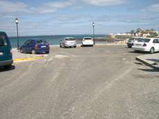 Car park on Corralejo beach