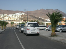 Car park at Las Playitas beach
