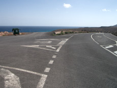 Abfahrt vom Aussichtspunkt