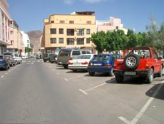 Parking on Gran Tarajal beach