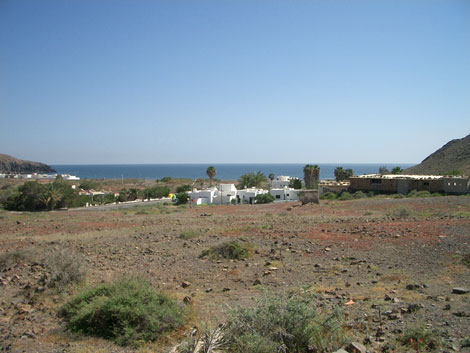 Village and beach of Giniginamar