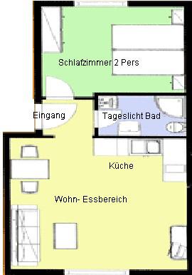 Grundrissplan Appartement Aliciamin