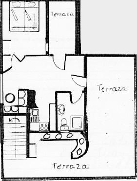 Grundrissplan La Gaviota Appartement 3