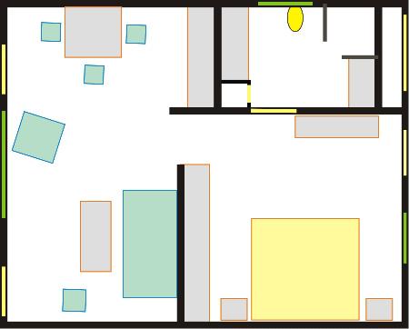 Grundrissplan Casa del Conde