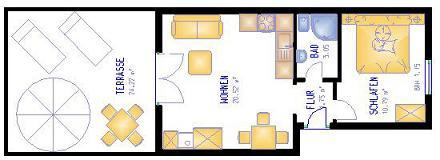 Grundriss Appartement Palmeras A 37