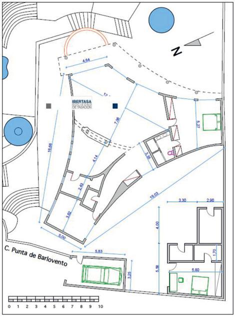 """Grundrissplan """"Ferienhaus Casa Dominio"""" auf Fuerteventura"""