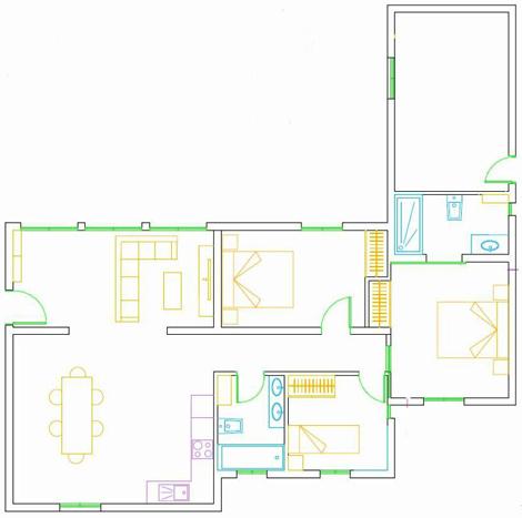 Grundrissplan Ferienhaus Tabaiba